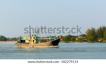 Fishing boat - stock photo