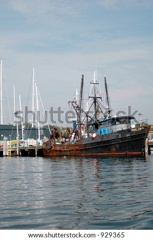 fishing boat in harbor Rhode Island