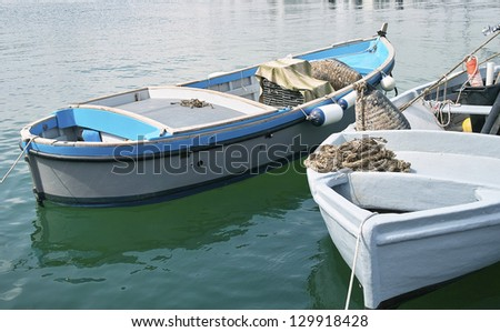 fishing boat in harbour of le grazie