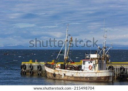 fishing boat in Iceland - stock photo