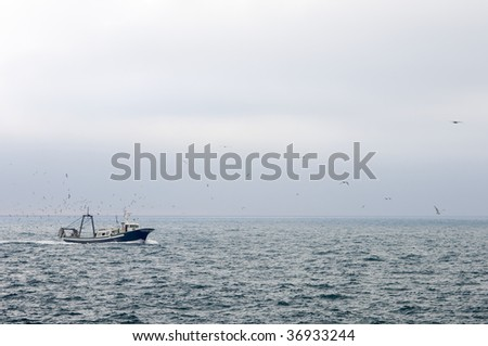 fishing boat in the Mediterranean Sea