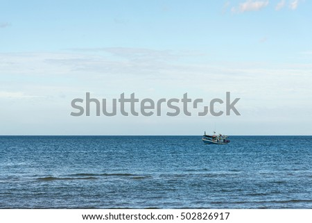 fishing boat on a sea