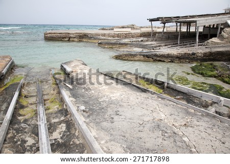 Fishing Boat Ramps, Es Calo, Formentera, Balearic Islands, Spain