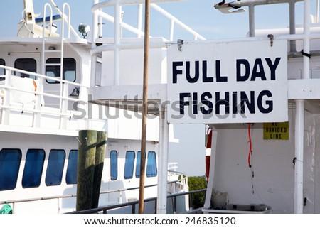 Fishing charter boats - stock photo
