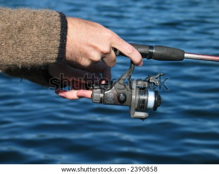 fishing closeup - stock photo