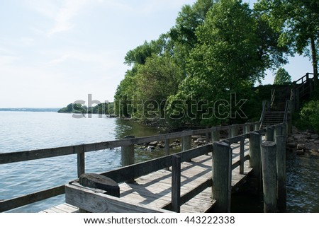 Fishing Dock In Perryville Community Park, Maryland