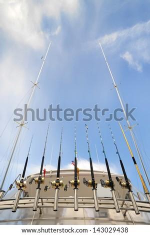 Fishing equipment. - stock photo