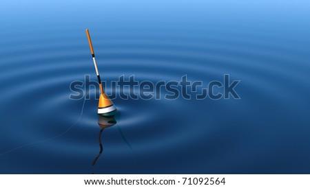 Fishing float - stock photo