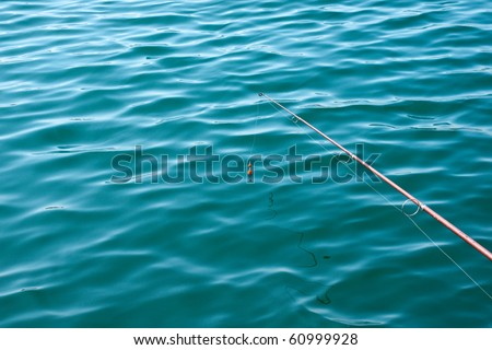 Fishing hook trown into the water