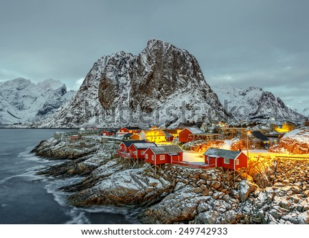 Norway houses stock images royalty free images vectors for Peak fishing times