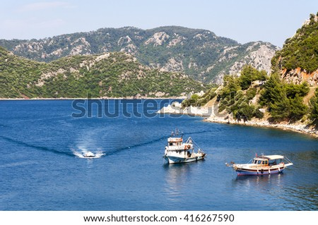 Fishing in Marmaris, Turkey
