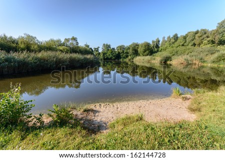 Fishing Lake - stock photo