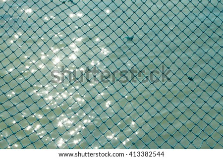 Fishing net background with sun light