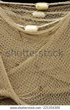fishing nets 3 - stock photo