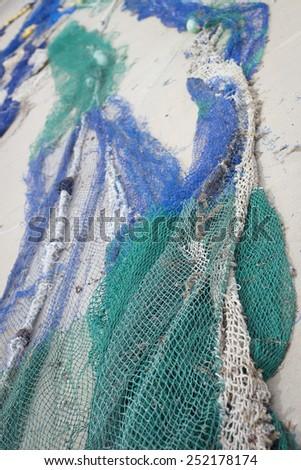 fishing nets - stock photo