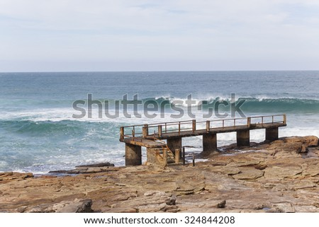 Uvongo stock images royalty free images vectors for Oceanic fishing pier