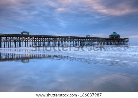 South carolina beach stock images royalty free images for Carolina beach fishing pier