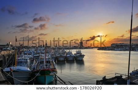 Fishing port - stock photo