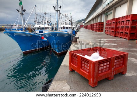 Fishing port of Hondarribia, Basque Country, Spain - stock photo