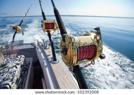 fishing reels - stock photo
