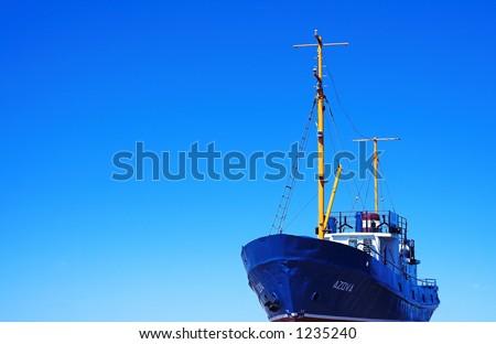 fishing ship - stock photo