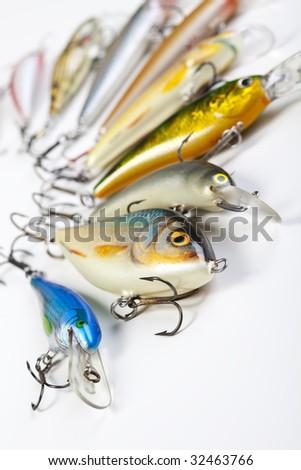 Fishing spinner - stock photo
