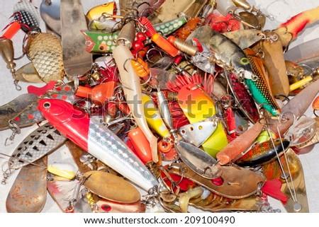 fishing tackle - stock photo