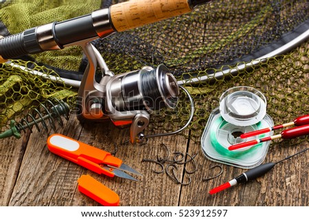 Fishing gear stock images royalty free images vectors for Free fishing stuff