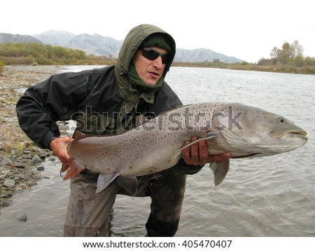 Fishing - taimen fishing in Siberia, Russia