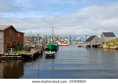 Fishing Village of Peggy's Cove Nova Scotia - stock photo