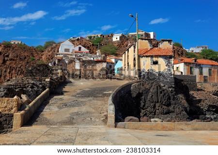 Fishing village Preguica, Sao Nicolau island, Cape Verde (Cabo Verde), Africa - stock photo