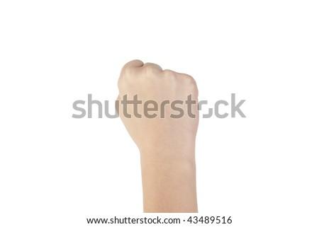 Fist gesture - stock photo