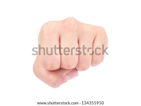 fist isolated on a white background