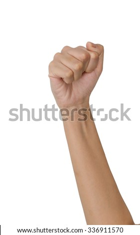 Fist isolated on a white background - stock photo