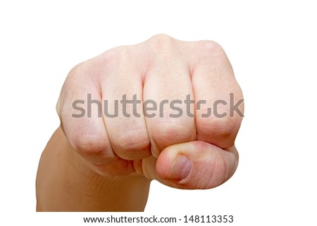 Fist, isolated on white background