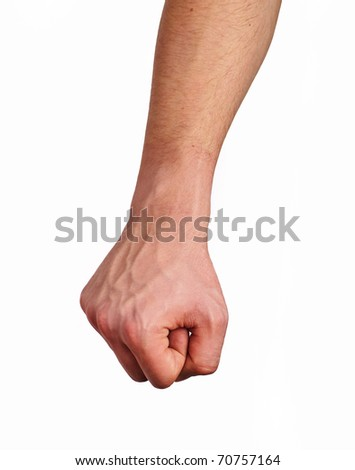 Fist, over white background