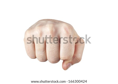 Fist, Punch, Isolated on White Background