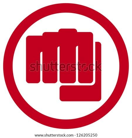 fist symbol (human hand punching sign) - stock photo