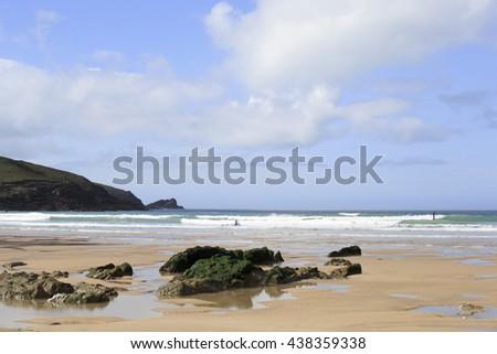 Fistral Beach, Newquay, England - stock photo