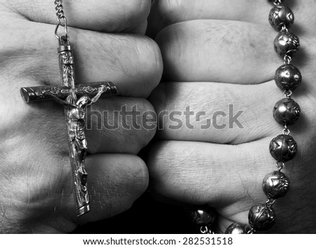 Fists of Faith - stock photo