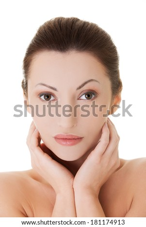 Fit spa middle aged woman