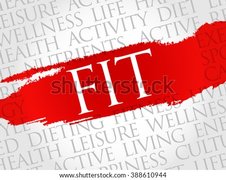 Fit word cloud, health concept - stock photo