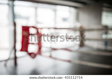 fitness boxing stage in blur scene with nobody