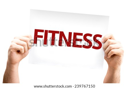 Fitness card isolated on white background - stock photo