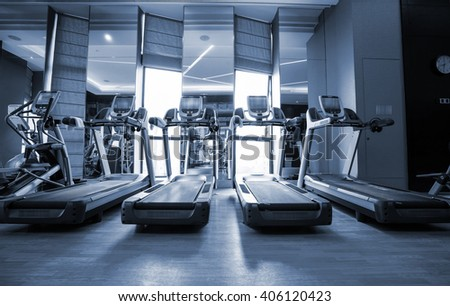 Fitness club in luxury hotel