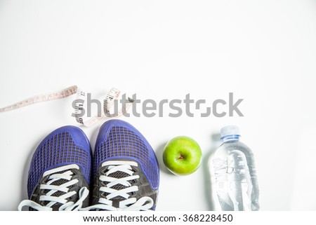 Fitness concept family health and weight