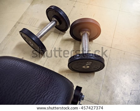 Fitness dumbbell sizes to increase muscular arms