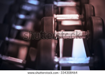 Fitness equipment dumbbell weights