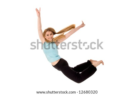 Fitness girl. - stock photo