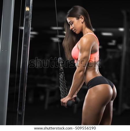 image Pretty brunette babe doing a hot masturbation show